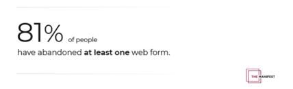 ウェブ入力フォームを諦める人のデータ