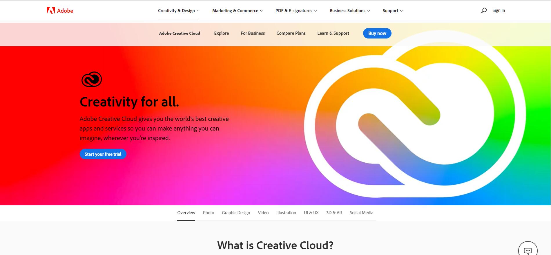 Adobeの公式HP