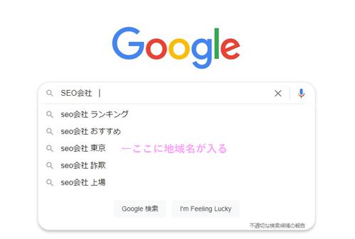 Googleサジェスト地域名