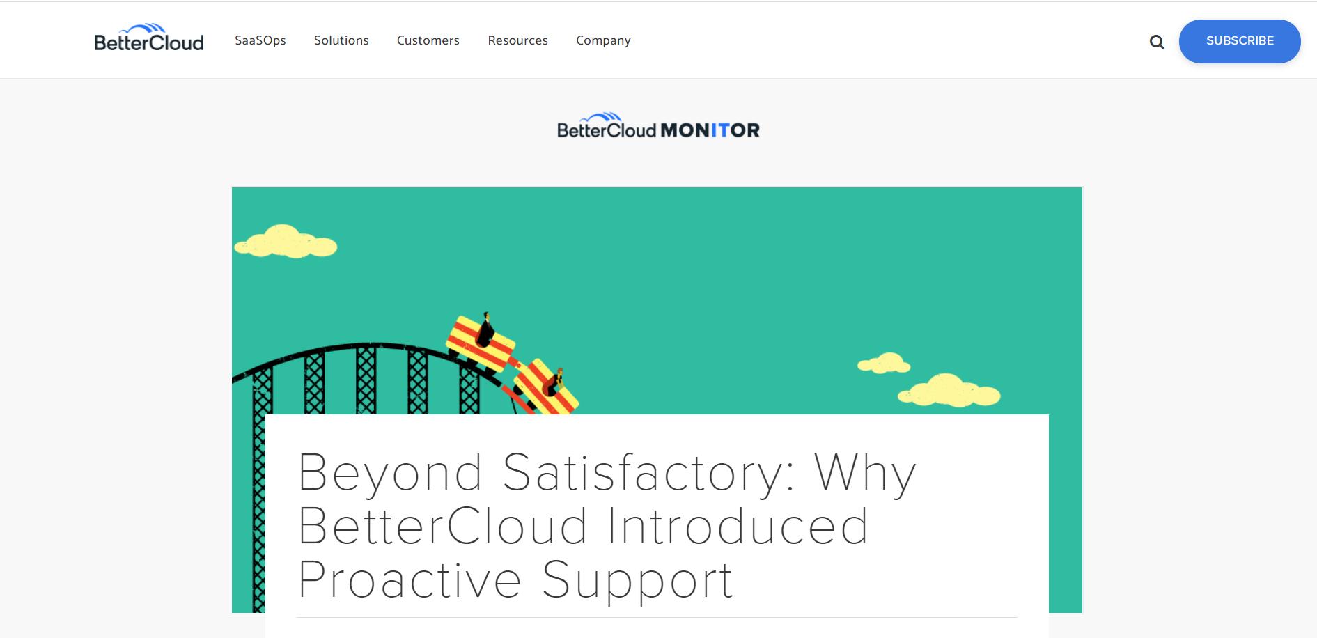 BetterCloudのウェブサイト