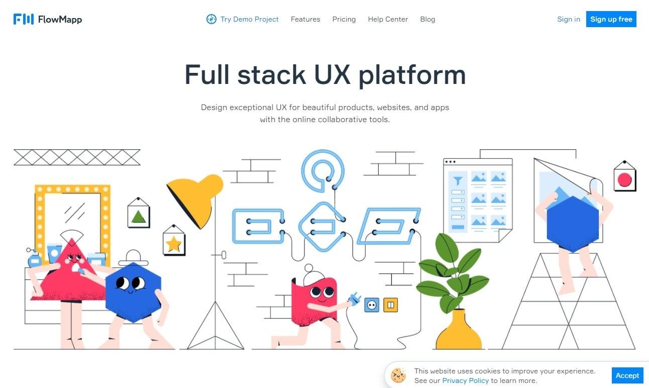FlowMappのウェブサイト